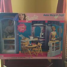 BARBIE BAKE SHOP & CAFE FURNITURE WITH ACCESSORIES NEW SEALED 2000 MATTEL
