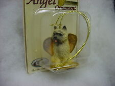 CAIRN TERRIER red dog ANGEL Ornament HAND PAINTED Figurine NEW Christmas puppy