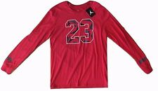 #23 Jordan Nike Jumpman Long Sleeve Graphic Tee T-Shirt Red Mens M Medium NWT