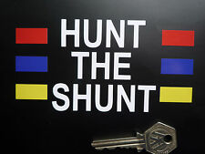 HUNT THE SHUNT James Hunt Helmet STICKER F1 Formula One Racing Car Decal Vinyl
