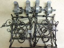 Duke Raccoon Trapping Pkg.  4-220 Body Grip  & 4-11/2 Coil Spring Traps Raccoon