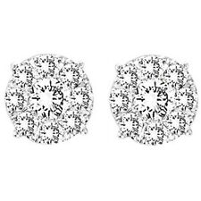 14K Yellow Gold Solitare Diamond Stud Earrings 1/2 Ct