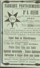 PARIS ECHIQUIER FABRIQUE GEKA ETS KREBS PUBLICITE ADVERTISING 1904