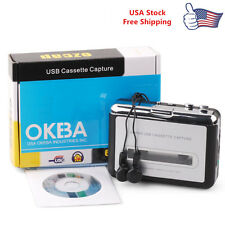 Tape to PC Super USB Cassette-to-MP3 Converter Capture Audio Music Player NEW E1