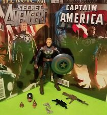 "Marvel Legends CAPTAIN AMERICA""+""GREAT COVERS"" Comic Book Display+ Extra Weapons"