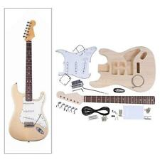 Electric Guitar Basswood Body Maple Neck Rosewood Fingerboard DIY Kit T4Q6
