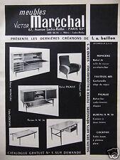 PUBLICITÉ 1956 MEUBLES VICTOR MARÉCHAL CRÉATIONS DE L.A.BAILLON - ADVERTISING