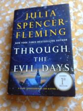 Through the Evil Days by Julia Spencer-Fleming (2013, Hardcover) SIGNED 1st/1st