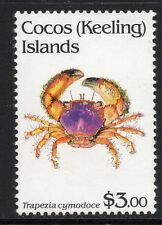 COCOS (KEELING) IS. SG263 1992 $3 CRUSTACCEANS  MNH