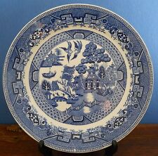 "An Art Deco Ridgway & Co 10"" Blue Willow Pattern Plate"