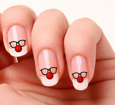 20 Nail Art Decals Transfers Stickers #744 - Red Nose Day. Red Nose