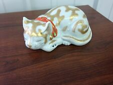 Japanese Porcelain Kutani Sleeping Cat