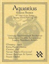AQUARIUS Parchment Page for Book of Shadows!
