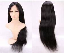 "7A 16"" Virgin Brazilian Human Hair Lace Front Wig, 130 Density"