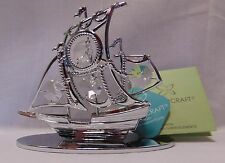 Crystocraft Pirate Ship orniment with Swarovski elements