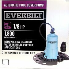 Pool Cover Pump EVERBILT 1/8HP Automatic standing water bilge pump