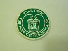Vintage Take Pride Don't Litter - Keep Pennsylvania Beautiful Day Green Patch