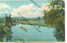 GREENFIELD,MASSACHUSETTS-GLIMPSE OF GREEN RIVER-FROM COVERED BRIDGE- 20(MASS-G)