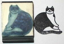 Fat Cat rubber stamp by Amazing Arts cute!