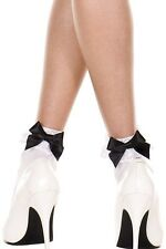 Vintage Lace Ruffle Frilly Ankle Socks Fashion Ladies Black White Retro uk stock