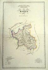 1868 CARTA TOPOGRAFICA VALLARDI CIRCONDARIO RIETI POGGIO MIRTETO MAGLIANO