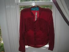 scandinavian designerGroa,ruby red silk blouse size36