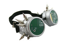 MATT SILVER CYBER GOGGLES WITH SPIKES PCB CIRCUIT BOARD CYBERGOTH RAVE COSPLAY
