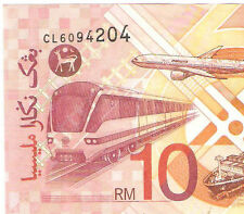Offer Malaysia Ali center  banknote $10  prefix CL6094204 ! very nice