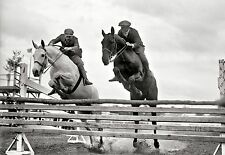 "1919 Photo, HORSE, Jumping, Jockey, Equestrian, antique sports, 16""x11"""