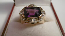 Amethyst and White Spinel Fancy Cluster Ring