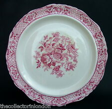 Vintage 1970's Masons Stratford Red / Pink Pattern Lg Round Serving Plate 38cm