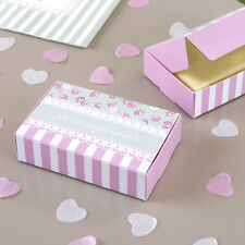 Frills & Spills Wedding Cake Favour Gift Party Boxes Pink Sage Green