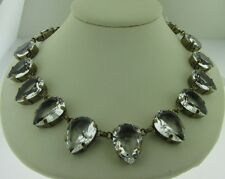 Sorrelli Riverstone NDA17AGRIV Crystal Pear LongStrand Necklace antique goldtone