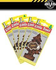 x 5 Genuine Little Tree Magic Tree Air Freshener Fresheners 5 Pack Leather