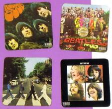 BEATLES 60's Pop Rock Roll Band LP ALBUM COVER Design 4 Pcs WOOD COASTER SET New