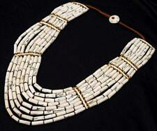 VINTAGE NAGA SHELL *COLLECTION* TRIBAL ETHNIC RARE OLD INDIA NECKLACE ATS