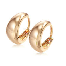 Childrens Safety Baby Smooth Hoop Earrings 14k Yellow Gold Filled Vintage