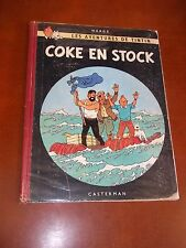 "BD ""TINTIN - COKE EN STOCK"" HERGé (1958) B 24 / EDITION ORIGINALE"