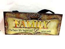'FAMILY' Plaque - Lights up (LED)