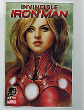 INVINCIBLE IRON MAN 1 PHANTOM VARIANT SIYA OUM PEPPER POTTS RESCUE MARVEL COMICS