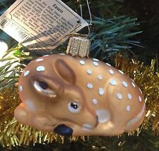 Baby Deer Spotted Fawn Old World Christmas Tree Ornament New Mouth Blown Glass
