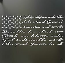 I pledge allegiance to the flag America Sticker Window Decal  Truck Chevy Ford