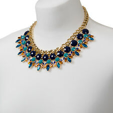 Statement Collar Necklace Gold Chunky Chain Choker Bright FREE SHIPPING 50% OFF