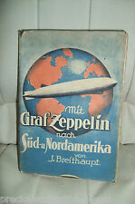 1930 GERMAN BOOK WITH ZEPPELIN LZ 127 TO SOUTH NORTH AMERICA BRAZIL AIRSHIP
