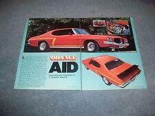 """1971 Pontiac GT-37 Tempest Vintage Street Machine Article """"Orange Aid"""" Le Mans"""
