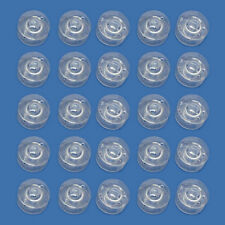 25 Clear Plastic Sewing Machine Bobbins for Fits Singer Janome Toyota LW