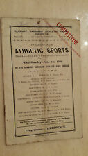 BANBURY HARRIERS ATHLETIC CLUB: ATHLETIC SPORTS PROGRAMME JUNE 1936