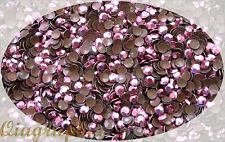1440 Pcs Iron On Hotfix Sparkling Faceted Rhinestuds HotPink SS20 AS5eH