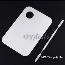 Women Pro Stainless Steel Cosmetic Makeup Palette Spatula Tool Nail Art Vogue