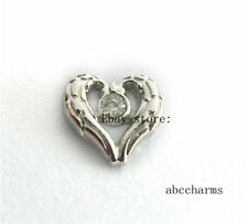 LOT 10pcs Heart floating charms for Glass living memory floating locket  FC1056